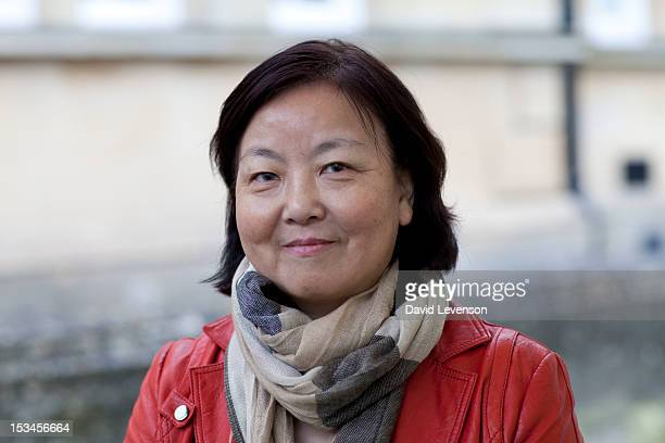 Chinese novelist Fang Fang attends Day 1 of The Times Cheltenham Literature Festival on October 5 2012 in Cheltenham England