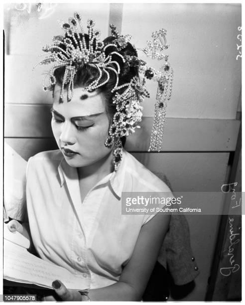 Chinese opera, 2 March 1958. Geraldine Fong;Mabel Lew;Pamela Quan -- 8 years;Colleen Quan -- 8 years;Katy Quan -- 6 years;Dar Nam;Lim Sin Hong;Mino...