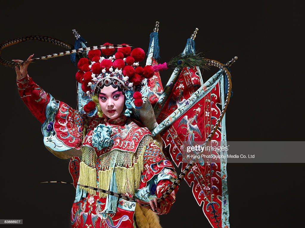 Chinese opera character (Mu Gui Ying) : Stock Photo