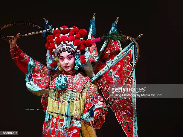 chinese opera character (mu gui ying) - actor stock pictures, royalty-free photos & images
