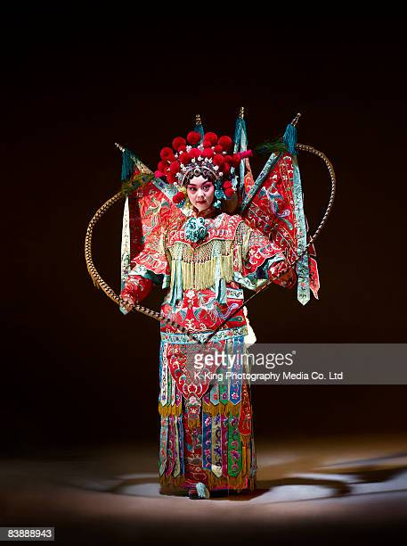 chinese opera character (mu gui ying) - chinese opera stock photos and pictures