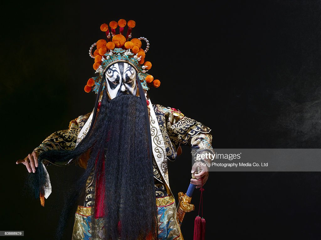 Chinese opera character with sword (Ba Wang) : Stock Photo