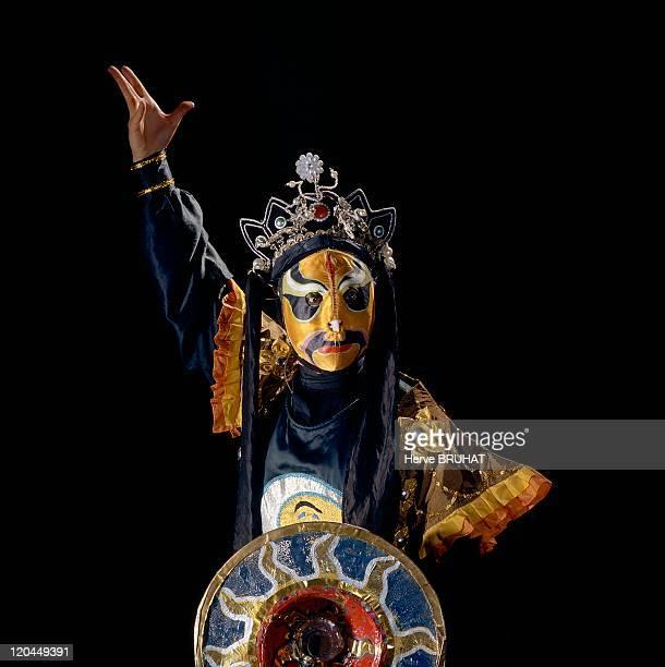Chinese Opera in Chengdu China Chuanju Opera Chengdu Sichuan Province Mao Tingqi performs 'bian lian' art of mask changing The Sichuan has created a...