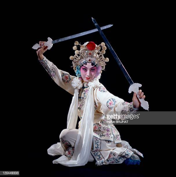 Chinese Opera in China Actress Shi Min plays the role of the White Snake in Baisha Zhuan Leading actress of the opera group from Beijing to Shanghai...