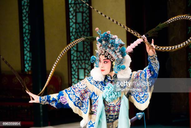 Chinese Opera Singer performing at the Chinese national opera house