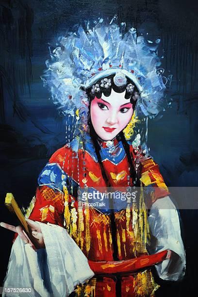 china opera-xg - pintura a óleo imagem pintada - fotografias e filmes do acervo