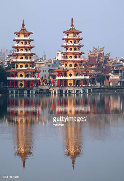 Chinese Pagoda and Reflection