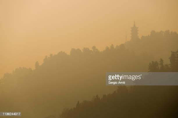 Chinese pagoda silhouette