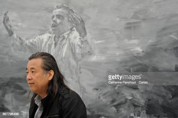 Chinese painter Yan PeiMing in his workshop on October 21 2013 in IvrysurSeine France