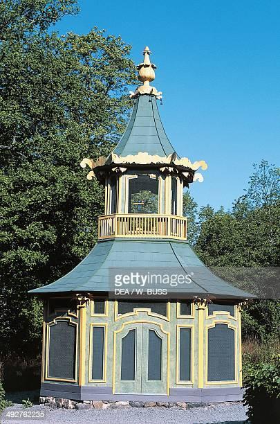 Chinese pavilion, grounds of Drottningholm Palace , near Stockholm, Sweden.