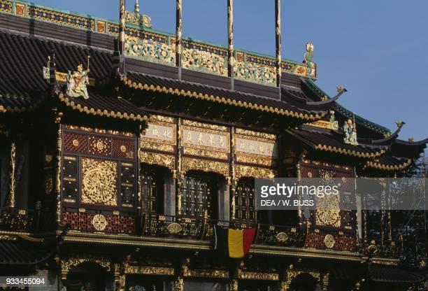 Chinese pavilion, park of the Royal Palace of Laeken, Brussels, Belgium.