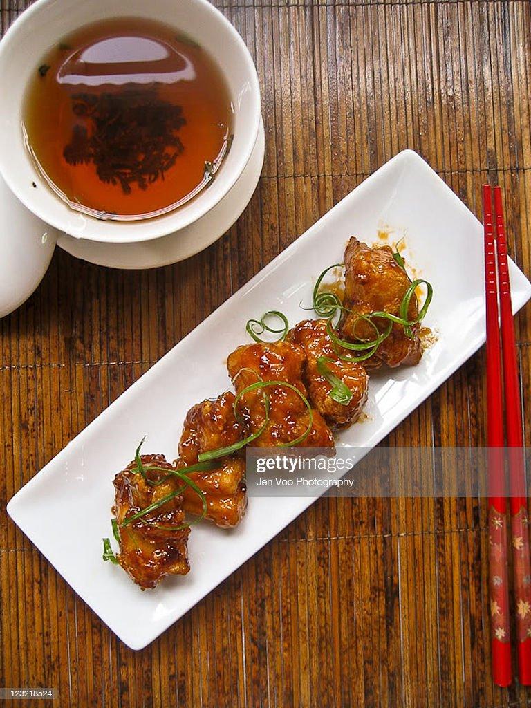 Chinese peking spare ribs : Stock Photo
