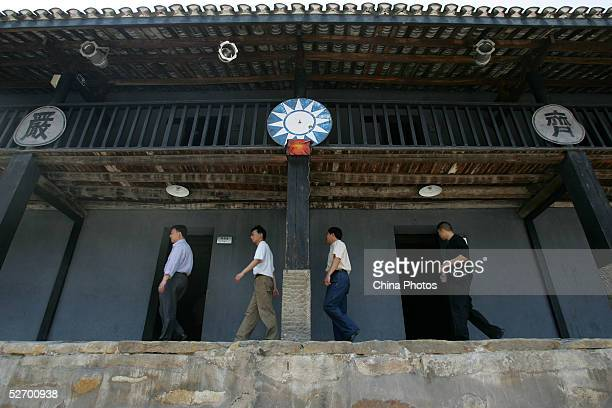 Chinese people visit the memorial site of Zhazidong Prison, where Communists were massacred and tortured by Nationalist Party during the Chinese...