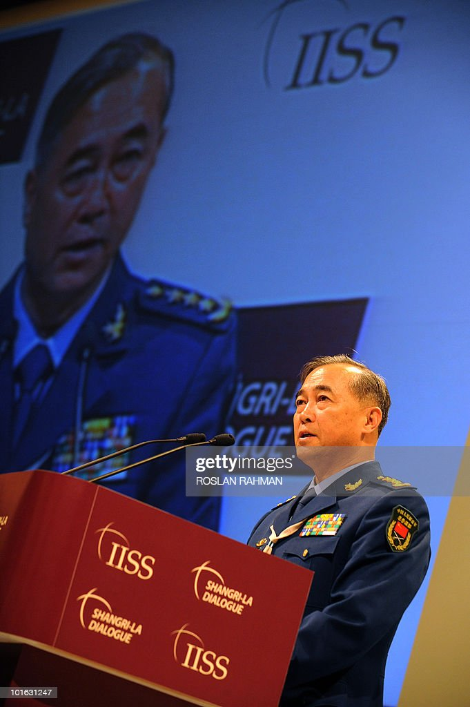 Chinese People's Liberation Army Deputy Chief of General Staff Ma Xiaotian speaks at the Asia-Pacific security forum in Singapore on June 5, 2010. The United States is weighing fresh steps to hold North Korea to account after the sinking of a South Korean warship, US Defense Secretary Robert Gates said.