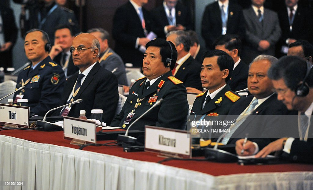 Chinese People's Liberation Army Deputy Chief of General Staff Ma Xiaotian, Indian National Security Advisor Shiv Shankar Menon, Vietnamese Defence Minister General Phung Quang Thanh, Indonesian Defence Minister Purnomo Yusgiantoro and Japanese Defense Minister Toshimi Kitazawa, attend the Asia-Pacific security forum in Singapore on June 5, 2010. The United States is weighing fresh steps to hold North Korea to account after the sinking of a South Korean warship, US Defense Secretary Robert Gates said .