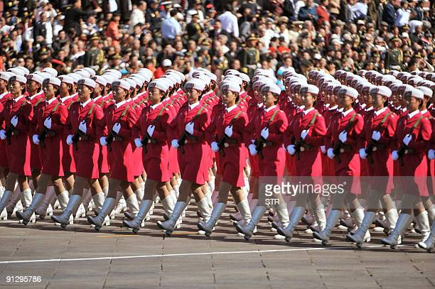Chinese Female Soldiers Stock Photos and Pictures | Getty ...