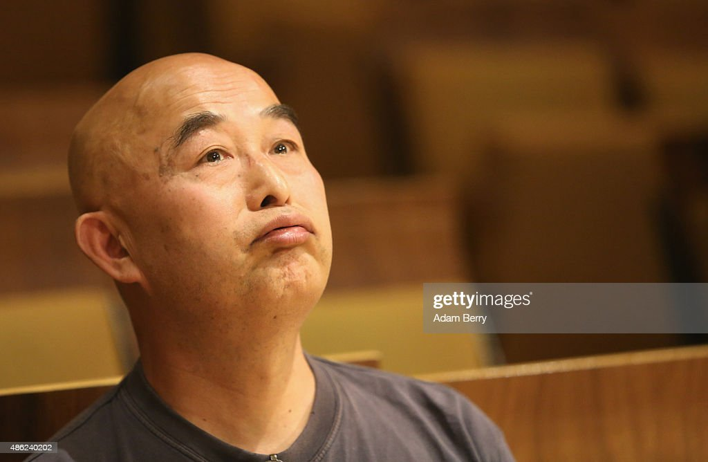 Chinese poet Liao Yiwu waits for the beginning of a panel discussion at the Berlin International Literature Festival on September 2, 2015 in Berlin, Germany. Chinese dissident artist Ai Weiwei and Liao participated in a conversation about literature, contemporary art, and their relationships with Chinese authorities. Liao had been imprisoned for four years in 1989, and in 2011, Ai was detained and beaten by security officials and then imprisoned for 81 days, only to reclaim his passport this past July, after which he went to Germany to meet his his partner Wang Fen and their son Ai Lao.