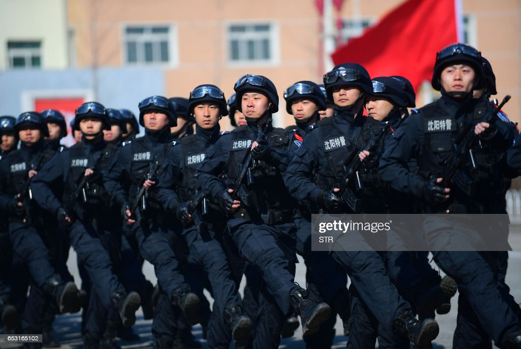 CHINA-POLICE-DRILL : News Photo