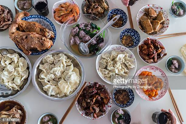 Chinese popular seafood dish at home, in Qingdao, Shandong,China.