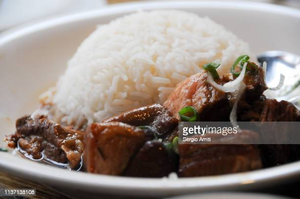 Chinese pork belly with rice