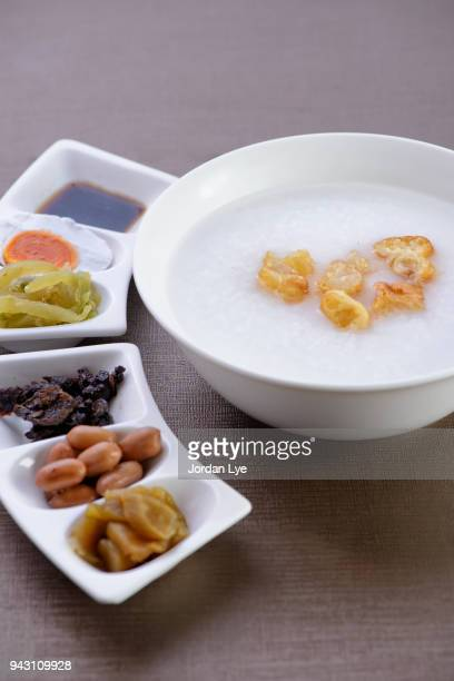 chinese porridge - congee stock photos and pictures