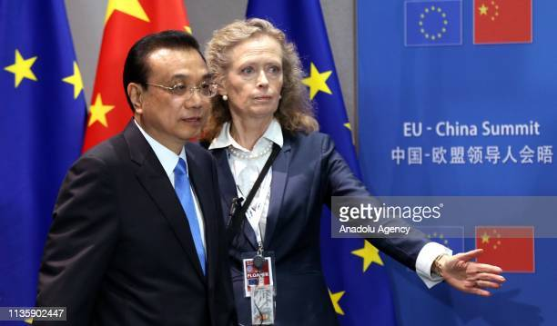 Chinese Premier Li Keqiang arrives to attend the EU-China Summit at the Europa building in Brussels, Belgium on April 09, 2019.