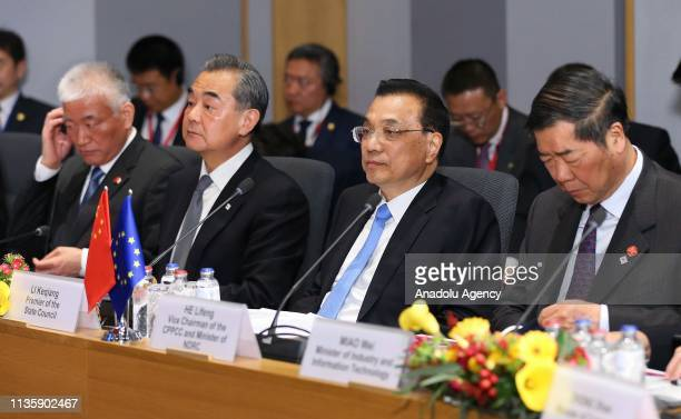 Chinese Premier Li Keqiang attends the EU-China Summit at the Europa building in Brussels, Belgium on April 09, 2019.