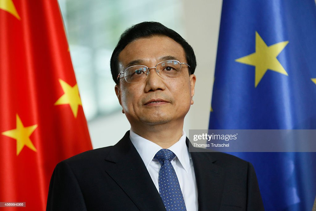 Chinese Premier Li Keqiang is pictured during a signing ceremony at Chancellery on October 10, 2014 in Berlin, Germany. The visit is Li's second visit to the country, China's biggest European trade partner, since taking office last year. During the consultations, companies from the two countries' telecommunications, automotive, and alternative energy industries are expected to sign agreements.