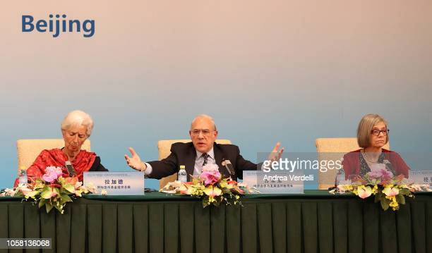 Chinese Premier Li Keqiang Managing Director of the International Monetary Fund Christine Lagarde Secretary General of the Organization for Economic...