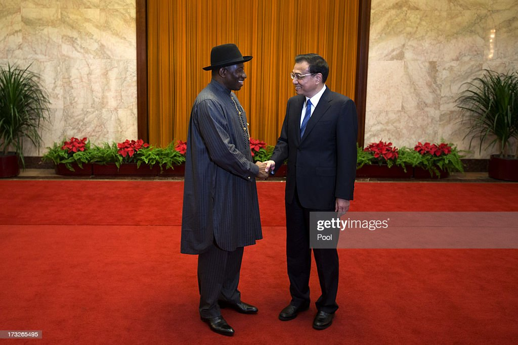 Nigerian President Goodluck Jonathan Visits China