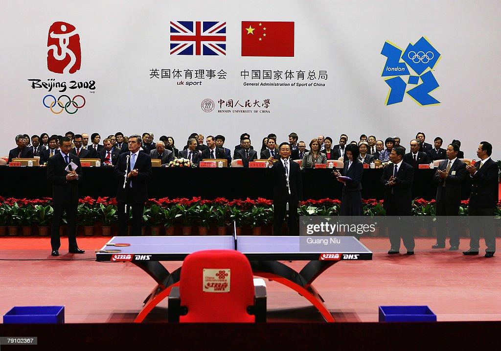British PM Gordon Brown Visits Beijing : News Photo