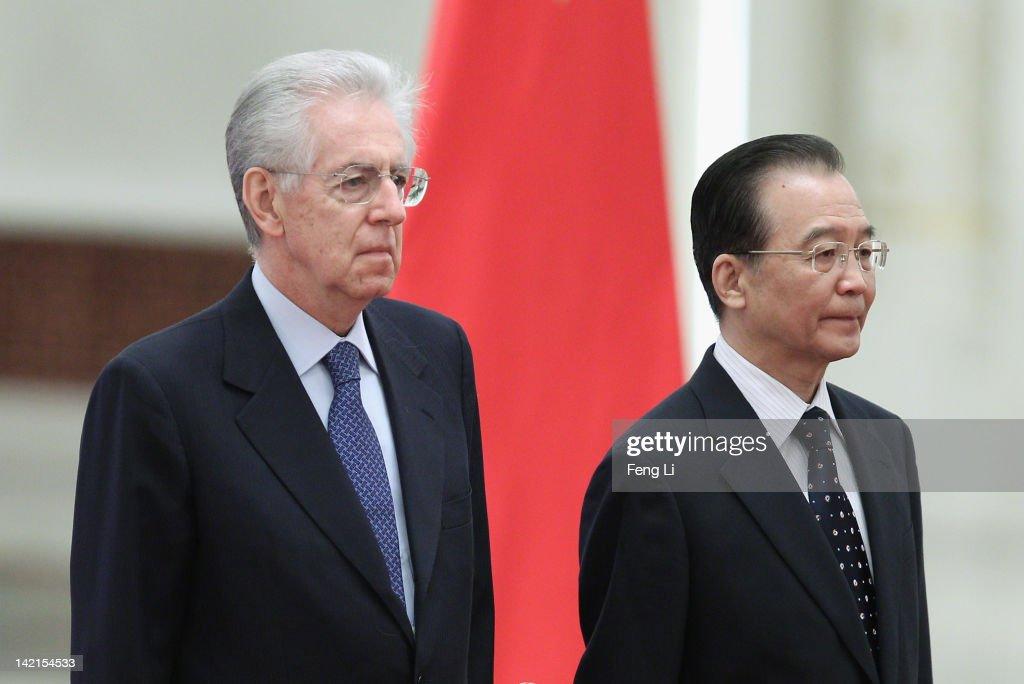 Italian Prime Minister Mario Monti Visits China