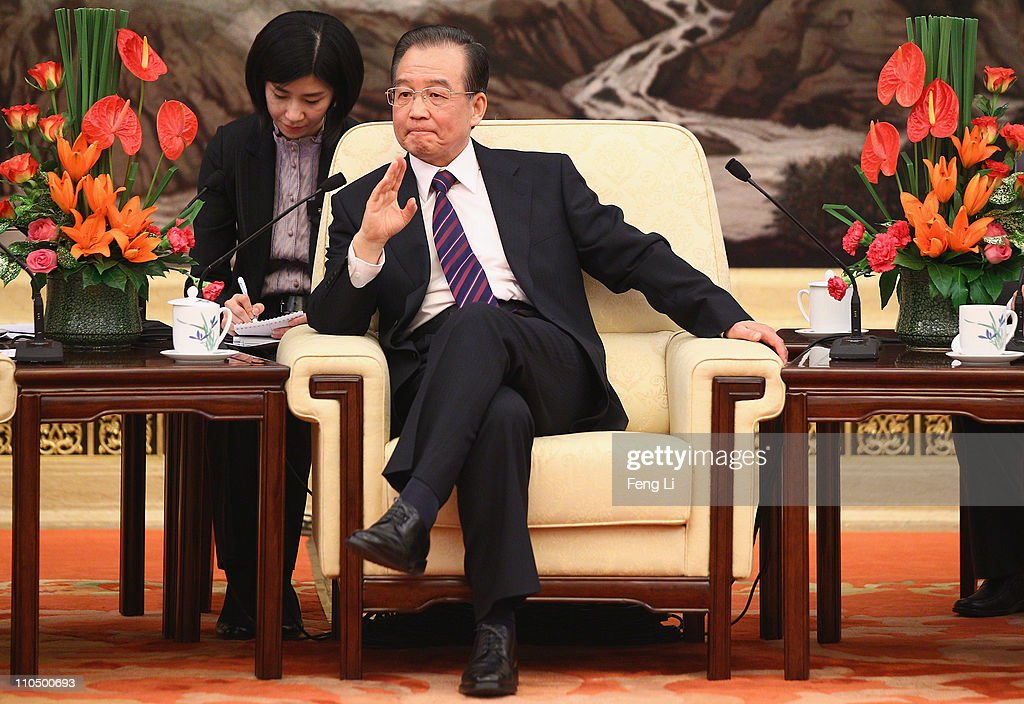 Premier Wen Jiabao Meets Representatives Of China Development Forum 2011