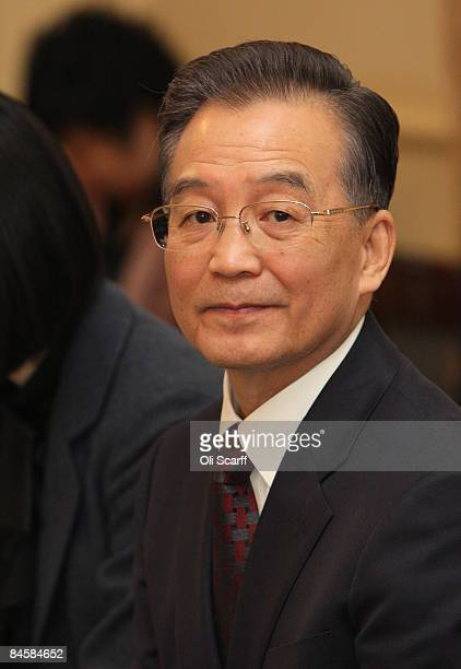 Chinese Premier Wen Jiabao during a meeting with members of the Cabinet including Prime Minister Gordon Brown Chancellor of the Exchequer Alistair...