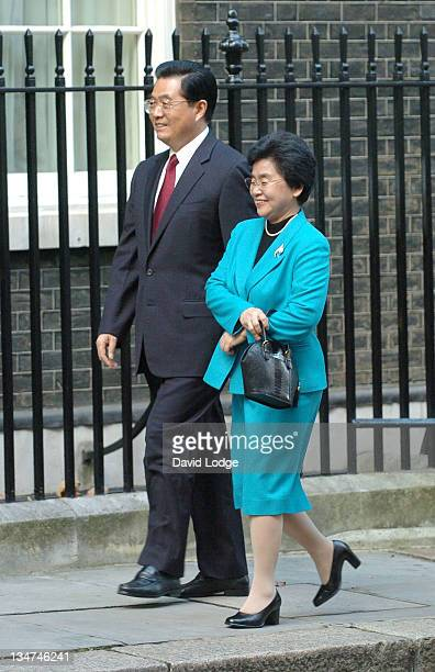 Chinese President Hu Jintao and Wife Liu Yongqing during Chinese President Hu Jintao and Wife Liu Yongqing Vist 10 Downing Street November 9 2005 at...