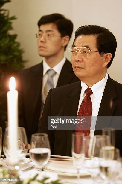 Chinese President Hu Jintao attends reception at Charlottenburg Castle on November 11, 2005 in Berlin, Germany. Hu Jintao is on a three-day official...