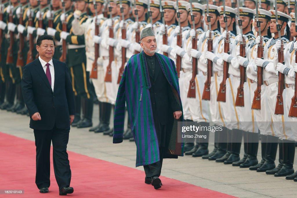 Afghan President Hamid Karzai Visits China