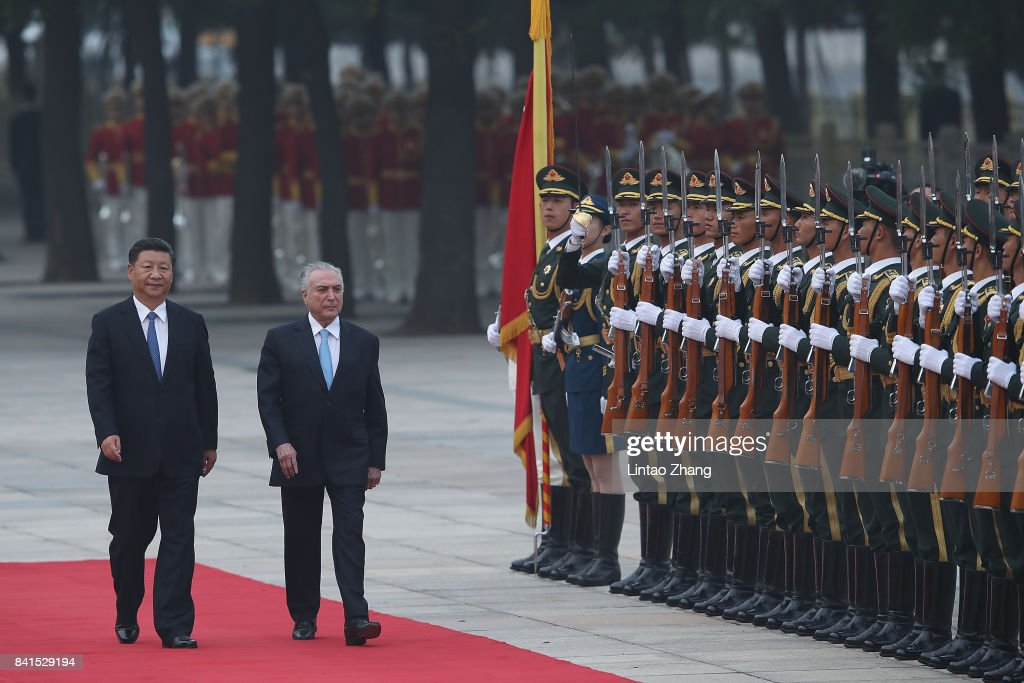 Brazil President Michel Temer Visits China And Attends The 9th BRICS Summit