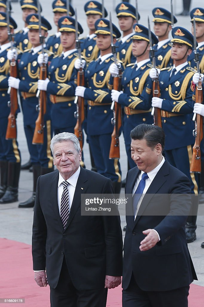 German President Joachim Gauck Visits China : News Photo