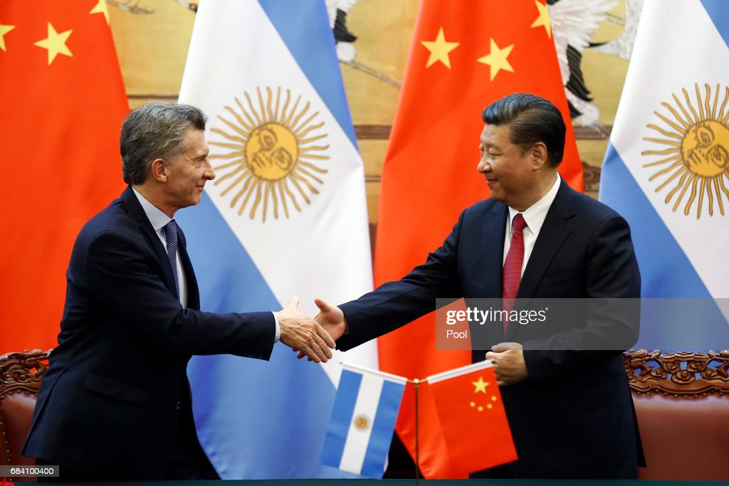 Argentine President Mauricio Macri On State Visit To China