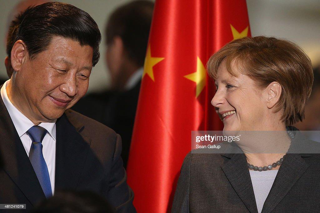 Chinese President Xi Jinping Visits Berlin : News Photo