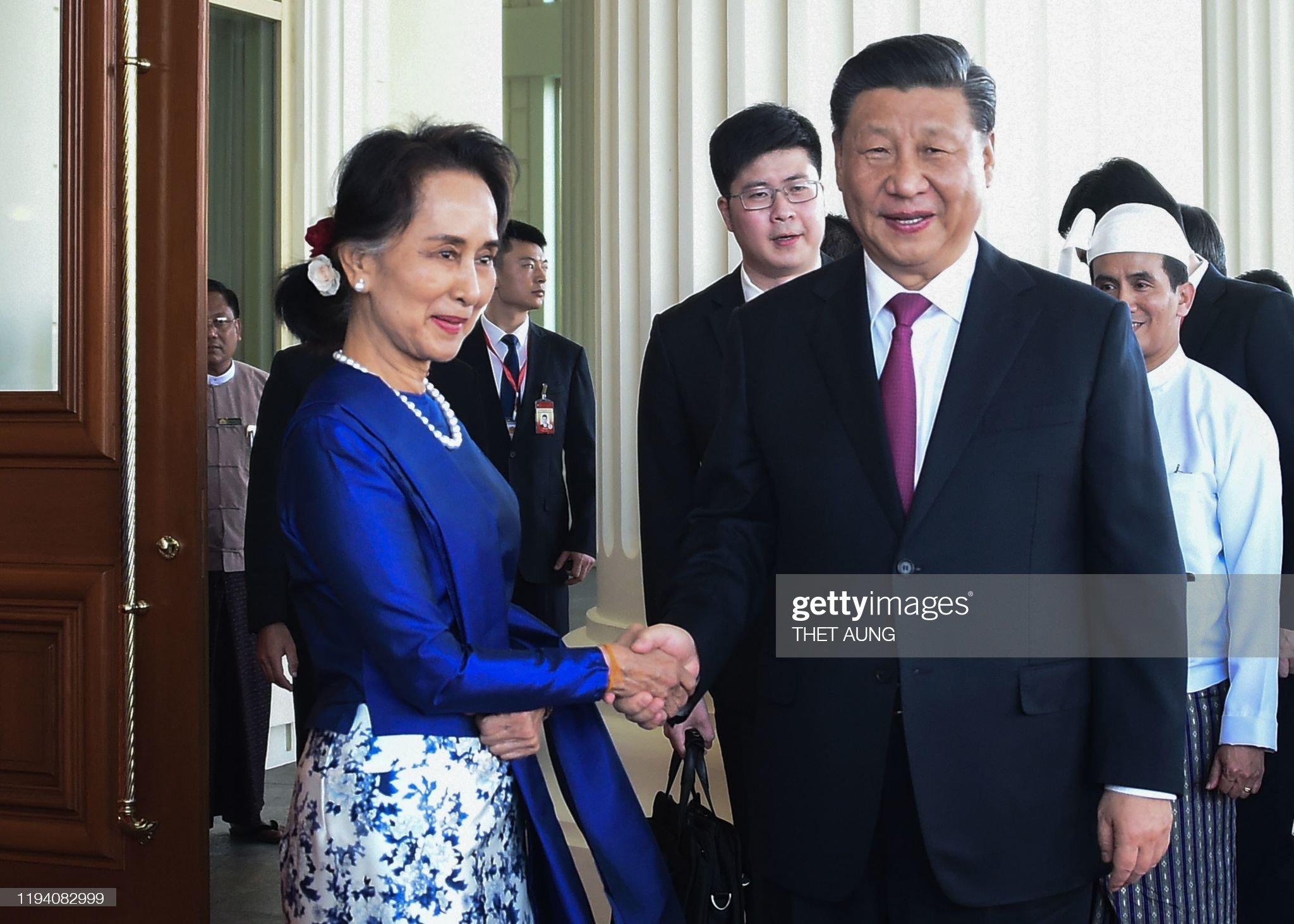 MYANMAR-CHINA-DIPLOMACY : ニュース写真