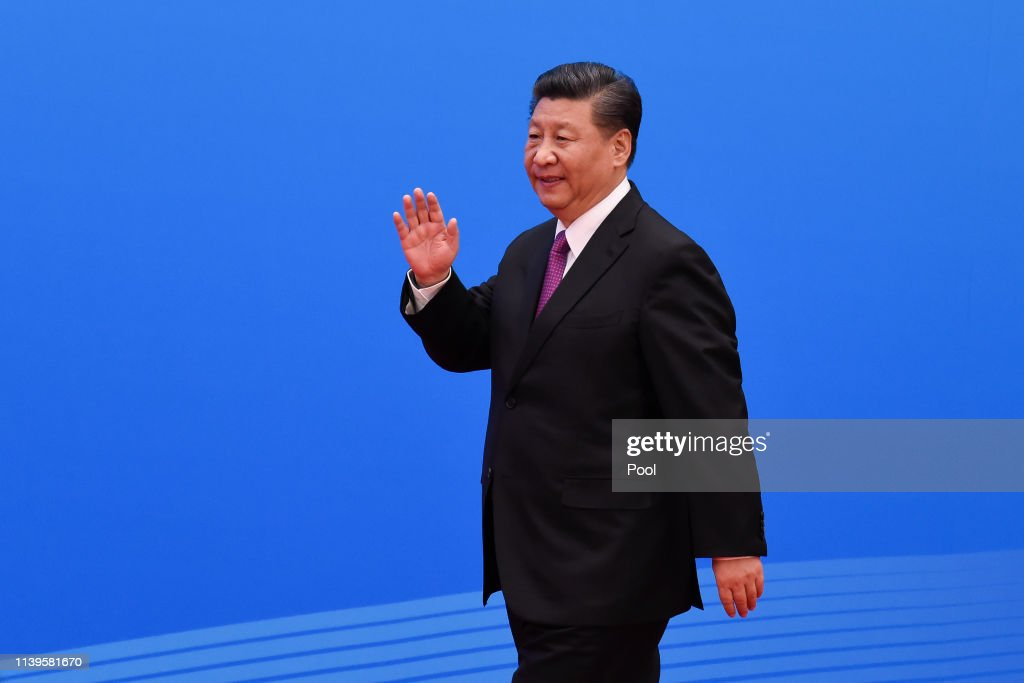 Chinese President Xi Jinping Attends A Press Conference : News Photo