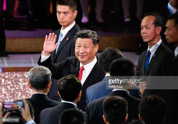Chinese President Xi Jinping attends Grand Variety Show on June 30 2017 in Hong Kong Hong Kong Chinese President Xi Jinping made a visit to Hong Kong...