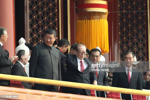 Chinese President Xi Jinping , Chinese ex President Jiang Zemin , Chinese Premier Li Keqiang and Chinese Chairman of the Chinese People's Political...