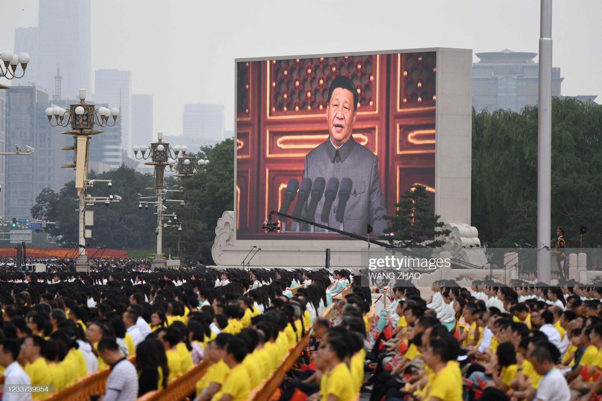 TOPSHOT-CHINA-POLITICS-PARTY-ANNIVERSARY : News Photo