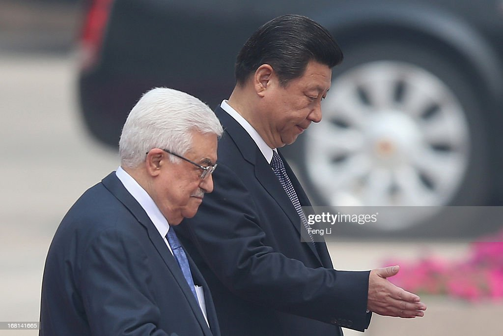 Palestinian President Mahmoud Abbas Visits China : News Photo