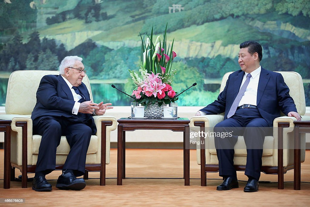 Chinese President Xi Jinping Meets Former U.S Secretary Of State Henry Kissinger : News Photo
