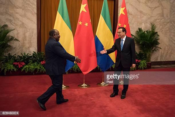 Chinese President Xi Jinping meets with Gabon's President Ali Bongo Ondimba on December 8 2016 in Beijing China