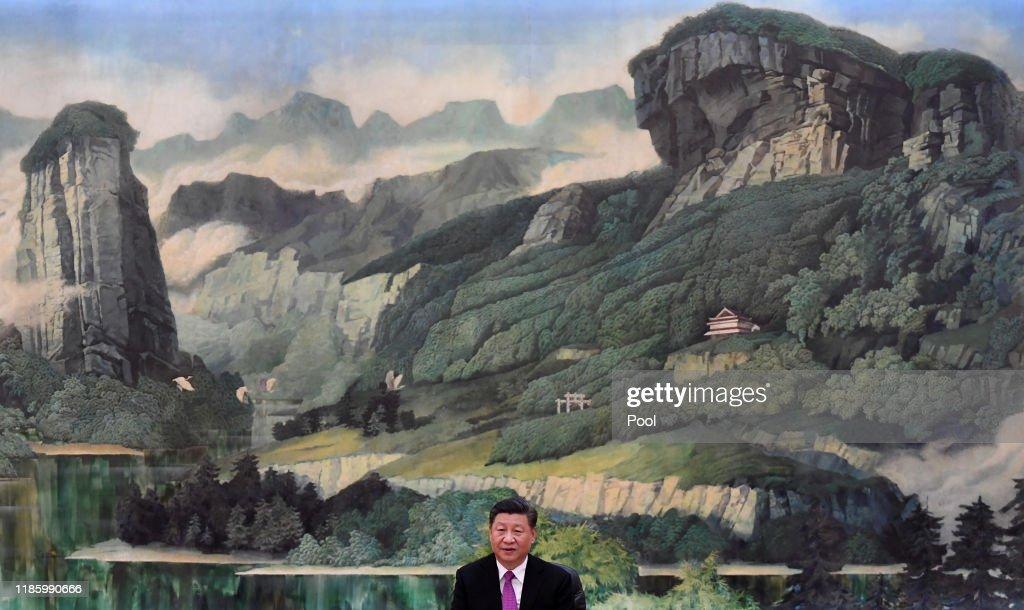 Chinese President Xi Jinping Meets With Russia's Security Council Secretary Nikolai Patrushev : News Photo